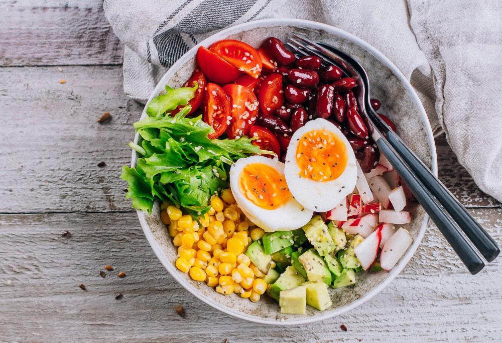Salade de maïs et de haricots